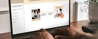 widok modułu szkolenia z networkingu w produkcie outplaceme platformy do rozwoju pracownika HCM Deck