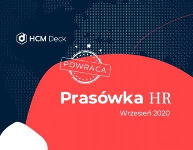granatowo-czerwono-białe tło-z-logo-hcm deck-i-napisem- powraca-prasówka-hr-wrzesień 2020