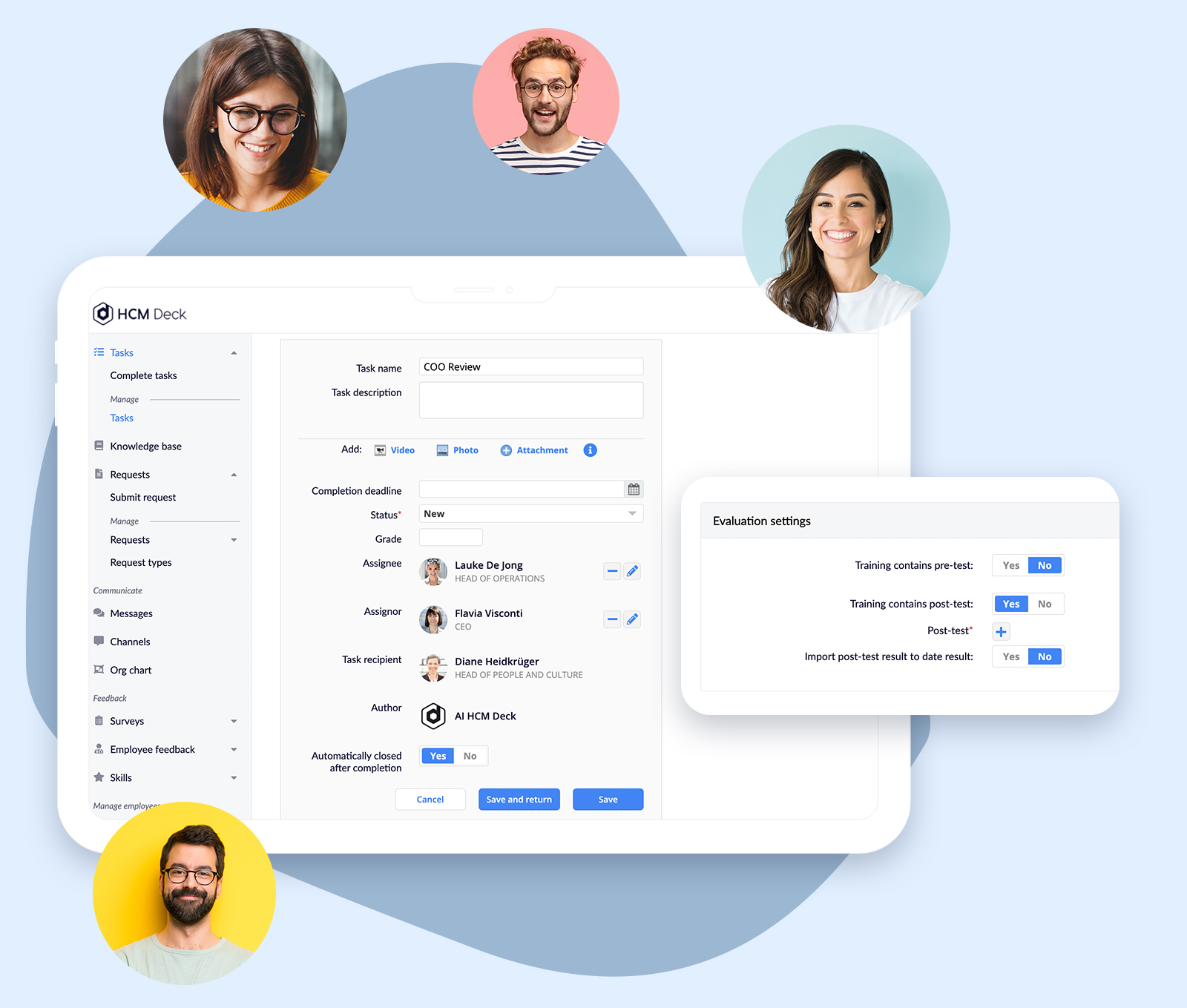Automation in HCM Deck -- Employee Development Platform