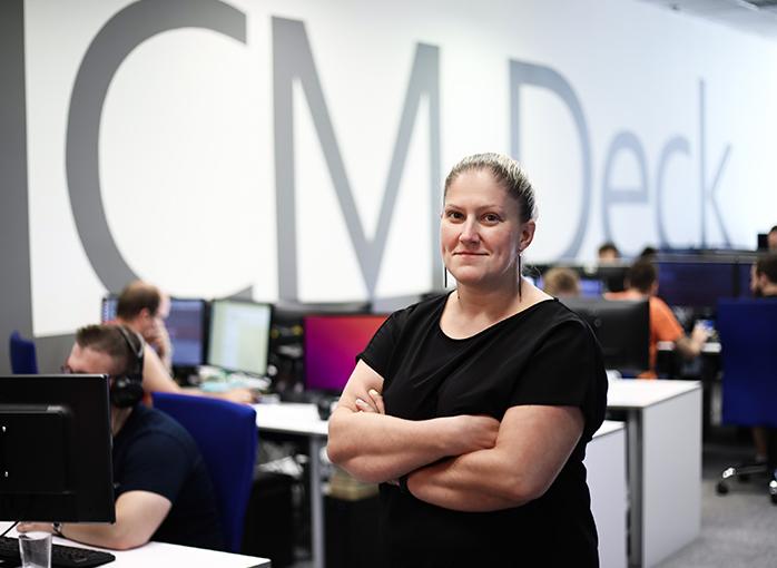 Joanna Piekarz-Nitkiewicz in HCM Deck office