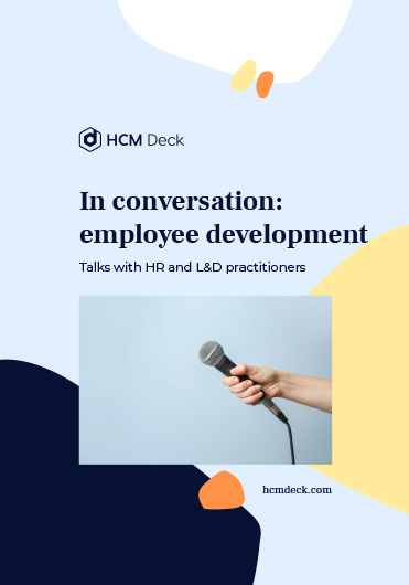 In conversation_employee development. Talks with HR and L&D practitioners. Interviews ebook cover