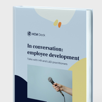In conversation_employee development. Talks with HR and L&D practitioners. Interviews ebook sideview