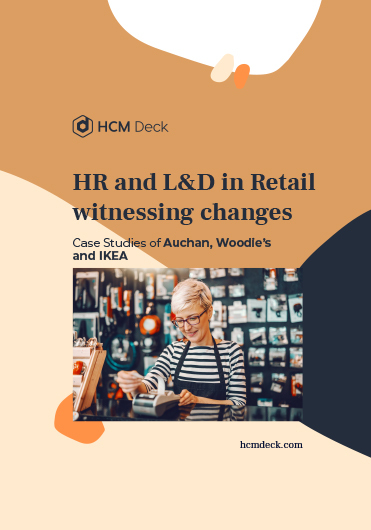 HR and L&D in retail witnessing changes. Case studies of Auchan, Woodie's and IKEA. Ebook cover